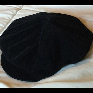 Accessories - Black Velvet Page Boy Hat